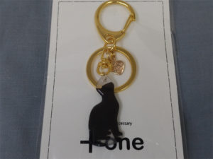 黒猫のキーホルダー