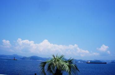 アイランド長崎から見た海
